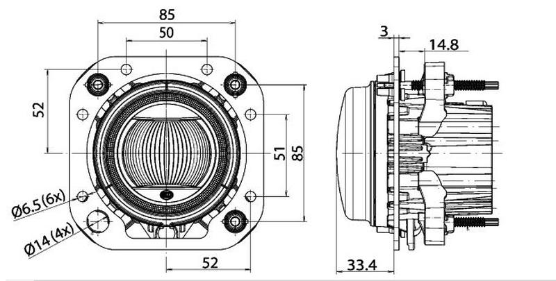 Papildlukturi tālā gaisma Hella LED 90mm 12/24v