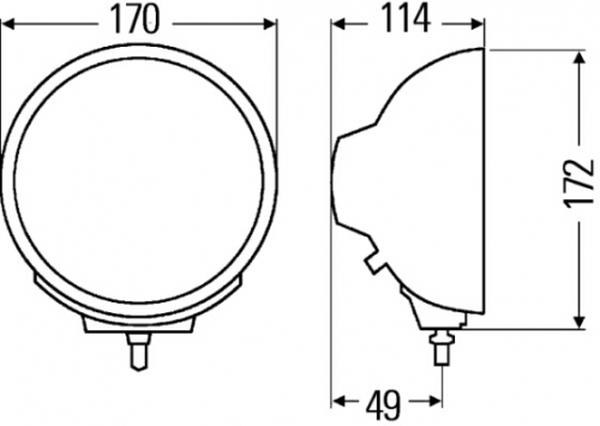 Papildlukturi Ref. 17,5 uminator Compact Chromium