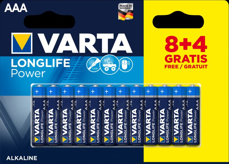 Baterijas VARTA AAA 1,5V 12 gab.