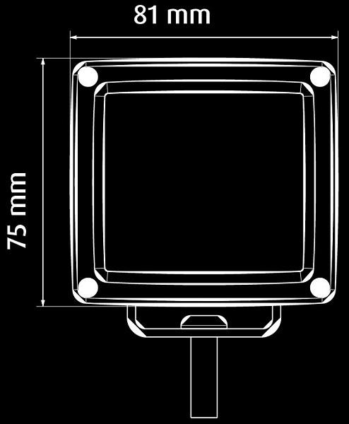 Lukturi, darba CIBIE LED 1500lm 12/24V 17W