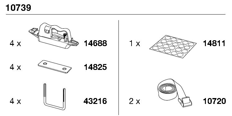 Thule Rapid Kit Stiprin. kompl. Ocean kastēm