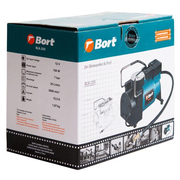 Kompresori Bort 12V 14A 25L/min 7bar 150W