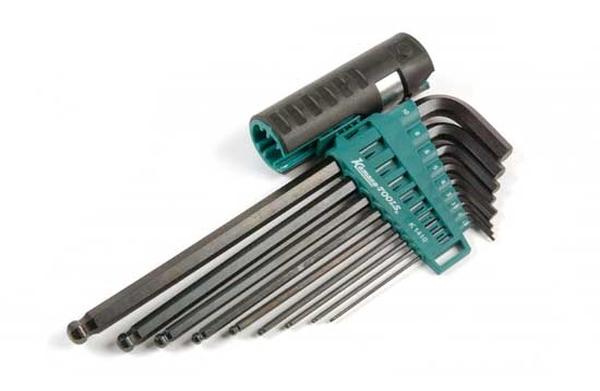 Atslēgu komplekti HEX pagarināts  9 gb 1.5-10 mm