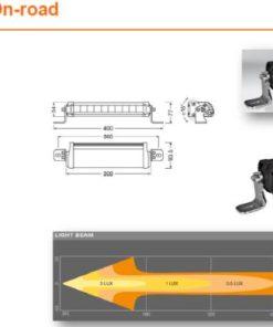 OSRAM LED LIGHTBAR FX250-CB, 35W ref. 27.5, 309mm