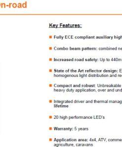 OSRAM LED LIGHTBAR FX500-CB,68W, Ref. 45, 564mm