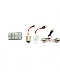 LED gaismeklis 8LED 15,6x31mm, 3X adapteris