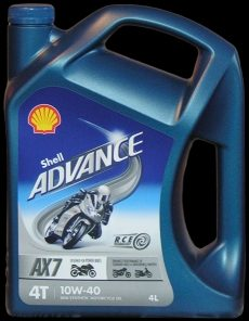 Motora eļļa SHELL Advance 4T AX7 10W-40 4L
